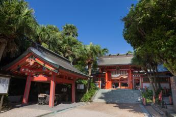 Aoshima-jinja Shrine (Aoshima Station on the JR Nichinan Line)…