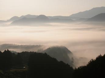Sea of clouds of Kiyomizu Temple