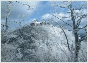 Beautiful frost-covered trees in winter at Mt. Hikosan…